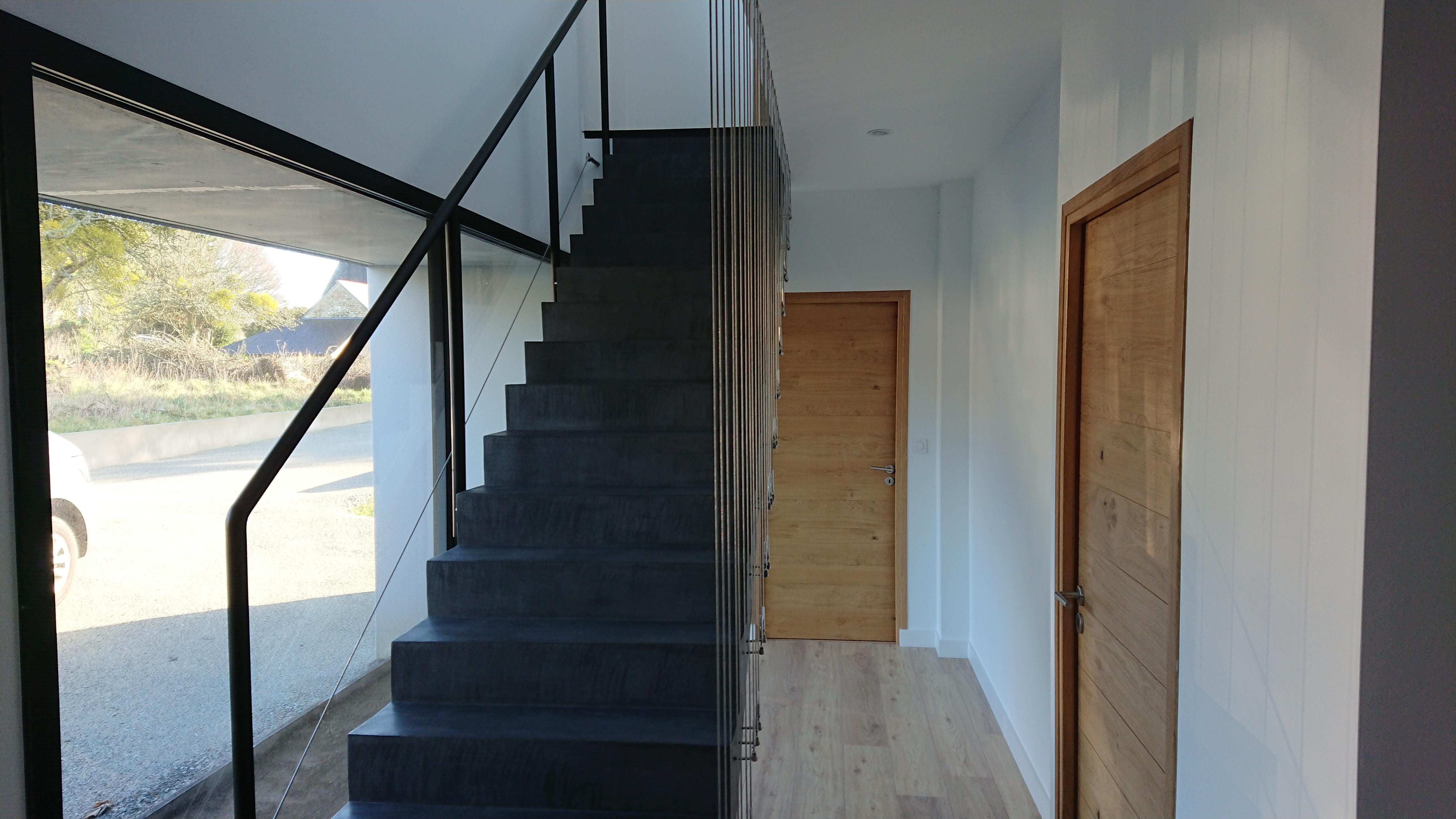 escalier beton cire nantes